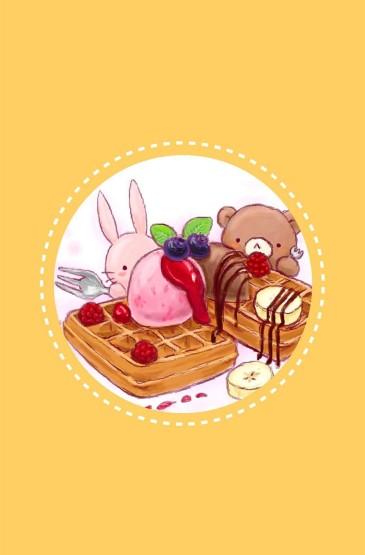 可爱的小熊小兔子卡通手机壁纸