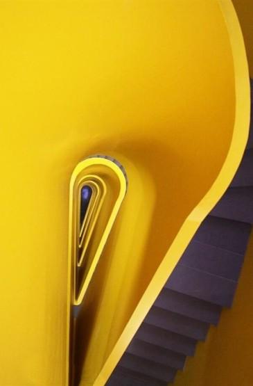 <极简之黄色墙面壁纸图片