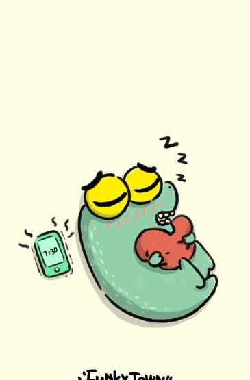<可愛的小鱷魚卡通形象手機壁紙