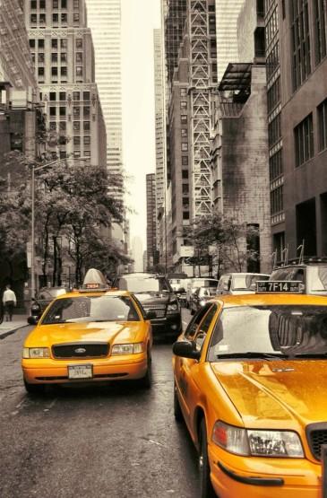 紐約街景小黃車手機壁紙