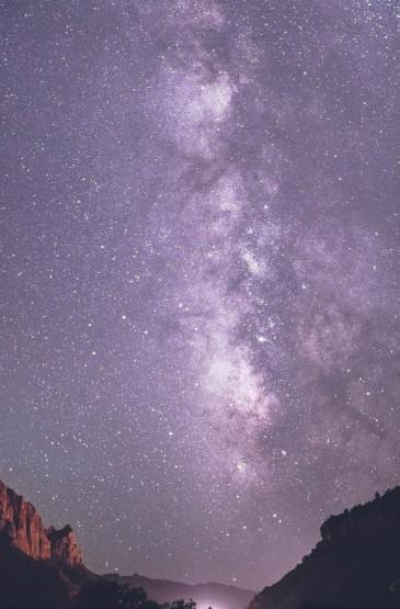 <唯美夜晚星空风景1080p手机壁纸