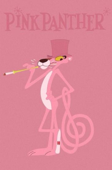 <卡通可愛少女心粉紅豹手機桌面壁紙