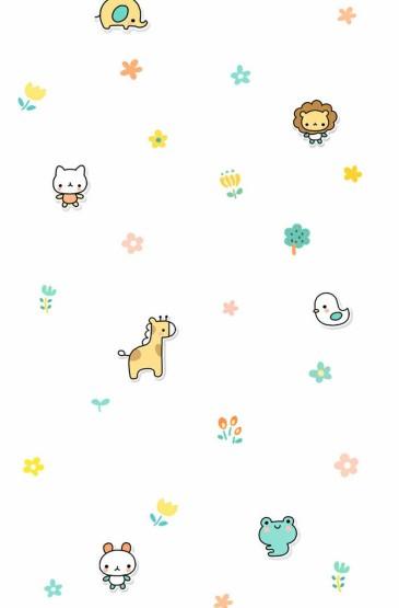 <韓系小可愛卡通平鋪壁紙下載