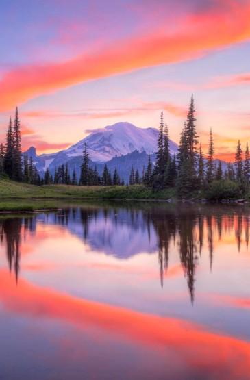 唯美雪山风景图片壁纸大全