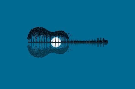 创意设计吉他图片