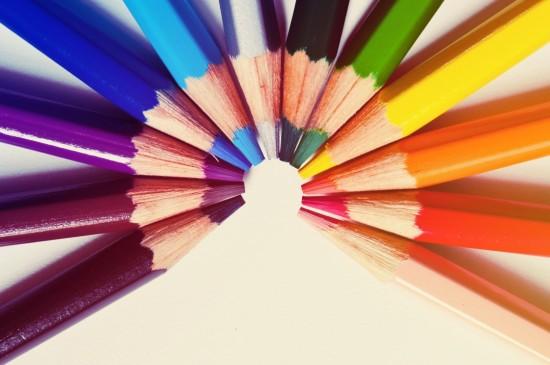 唯美五颜六色铅笔图片