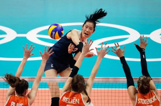 2016里约奥运中国女排荷