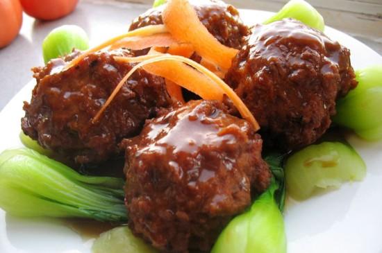 鲁菜美食四喜丸子桌面壁