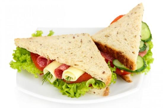 营养美食三明治宽屏桌面