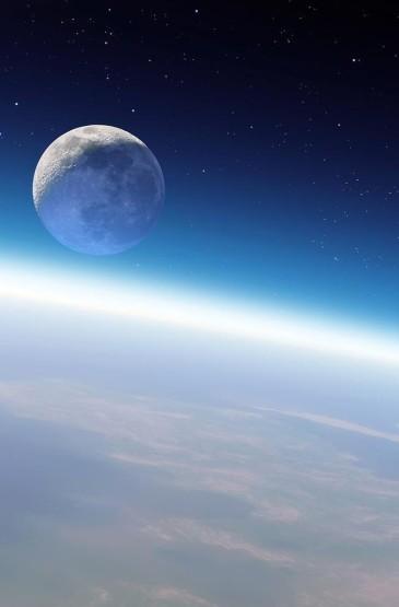 <蓝色夜空唯美风景手机壁纸图片