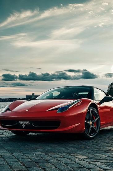 酷炫红色法拉利超级跑车