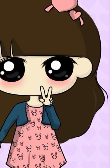 <精选可爱卡通大眼美眉高清iphone手机壁纸下载