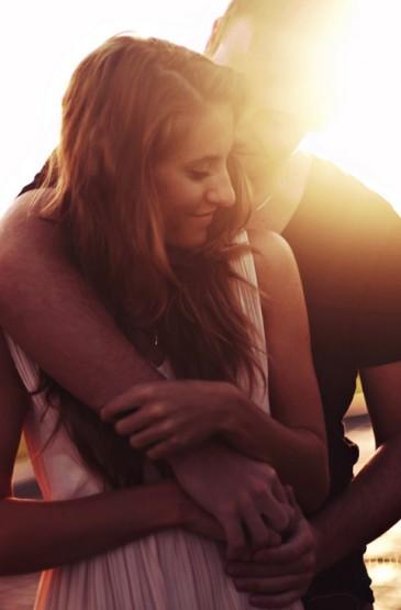 唯美好看的浪漫黄昏情侣