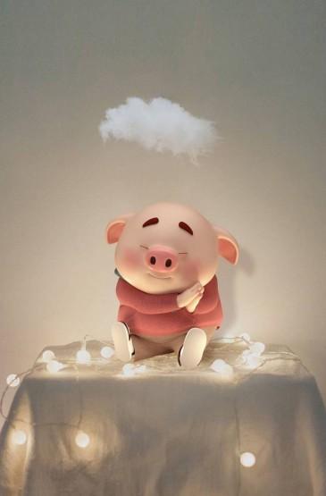 <可爱的卡通小猪唯美高清手机壁纸