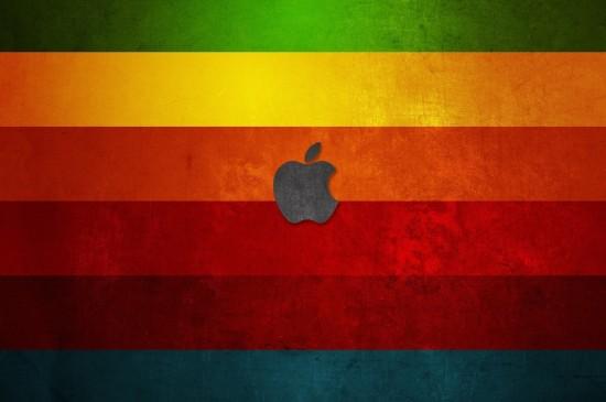 苹果logo标志创意桌面壁纸图片