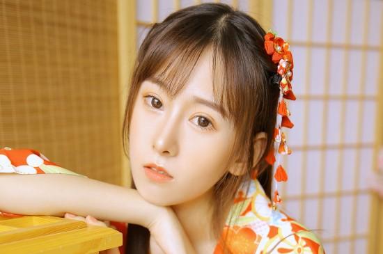<日式和服美女甜美写真高清电脑壁纸