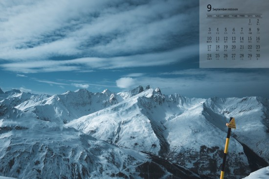 2018年9月雪山美景图片