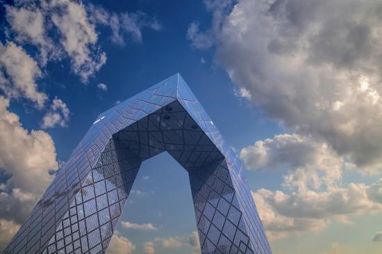 <北京中央电视台总部大楼风景图片壁纸