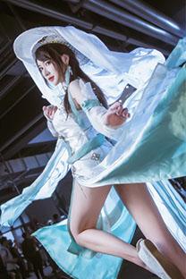 大长腿古风美女cosplay逆水寒游戏图片