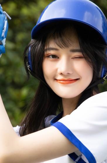 活力青春棒球美女写真手机壁纸
