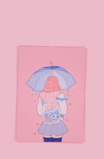 少女心梦幻粉色手机壁纸