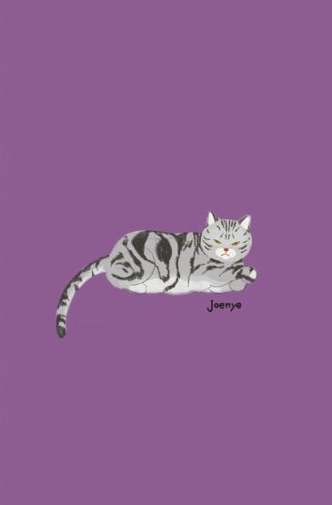 唯美呆萌卡通猫咪插画图片手机壁纸