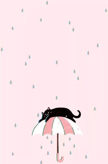 少女心唯美粉色系卡通图片安卓手机壁纸