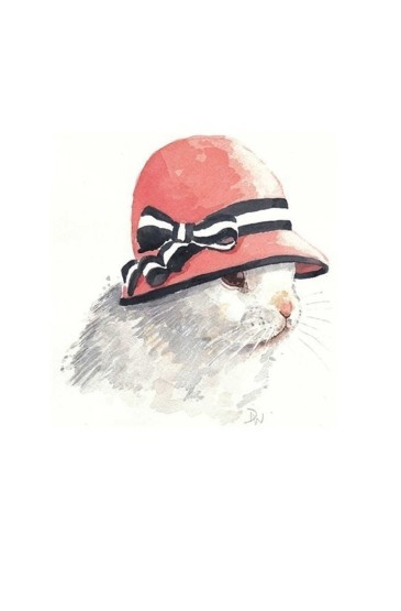 文艺手绘呆萌兔子卡通插画图片手机壁纸