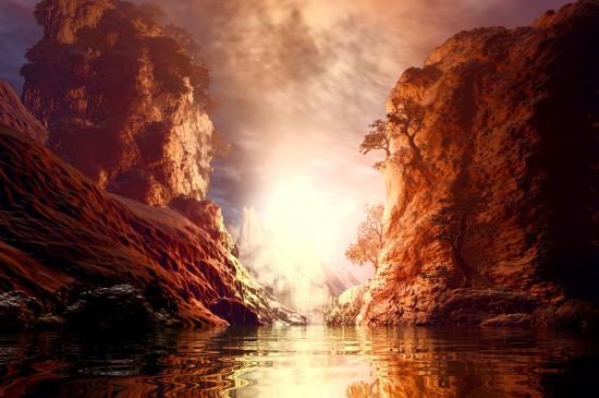 山川湖泊唯美风景图片高清壁纸
