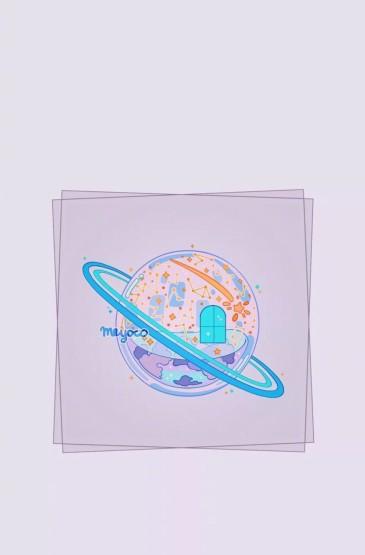 少女心唯美卡通插画图片iPhoneXr手机壁纸