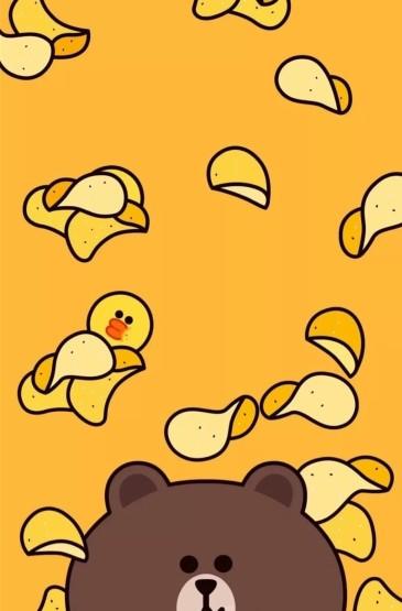 呆萌卡通小黄鸭唯美高清图片手机壁纸