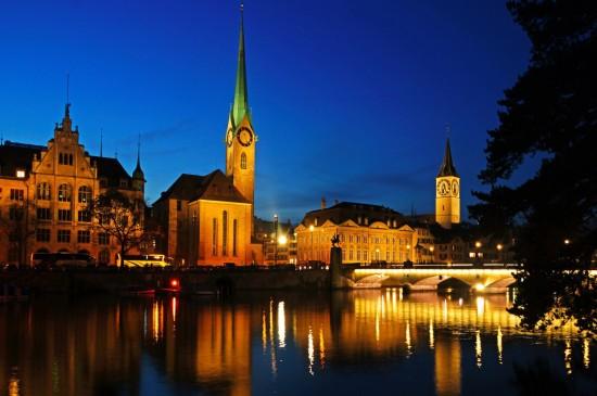 瑞士苏黎世城市风景图片