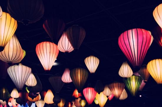 花灯创意素材背景图片桌面壁纸