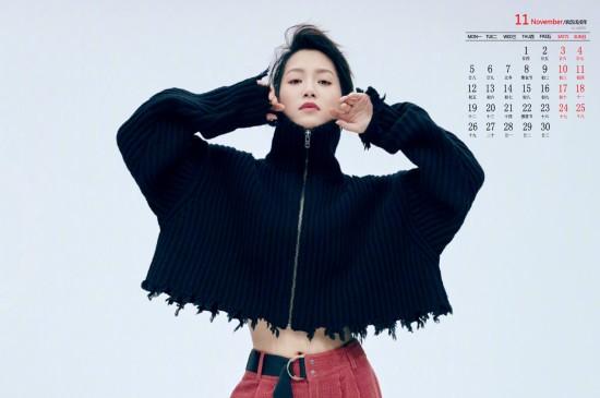 2018年11月苏青魅力写真图片日历壁纸