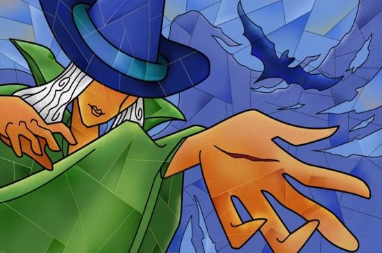 <万圣节高清二次元人物创意动漫少女卡通女巫插画桌面壁纸