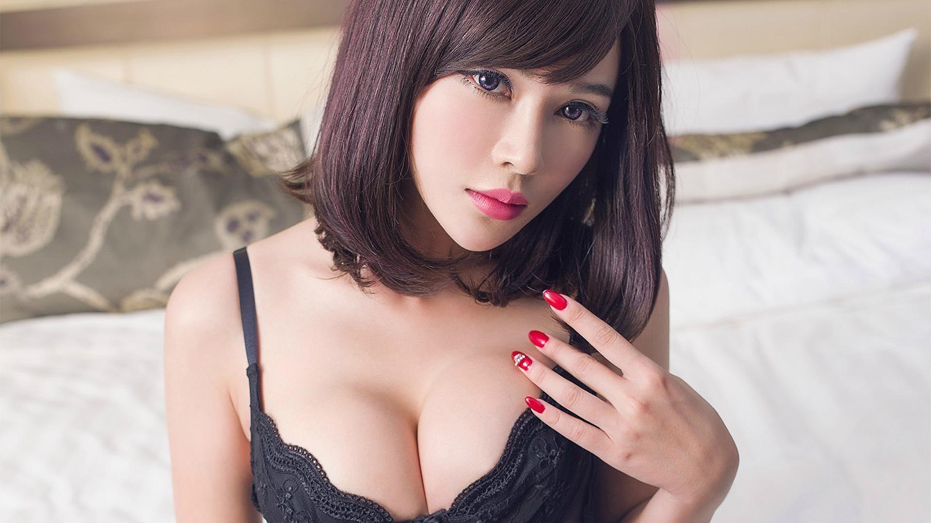 诱惑性感美女高清黑丝情趣内衣诱人写真桌面壁纸