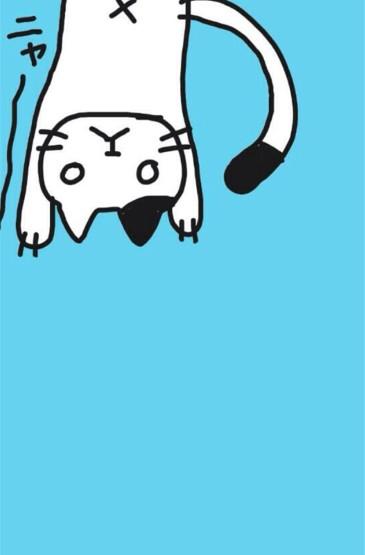 简约手绘猫咪图片手机壁纸