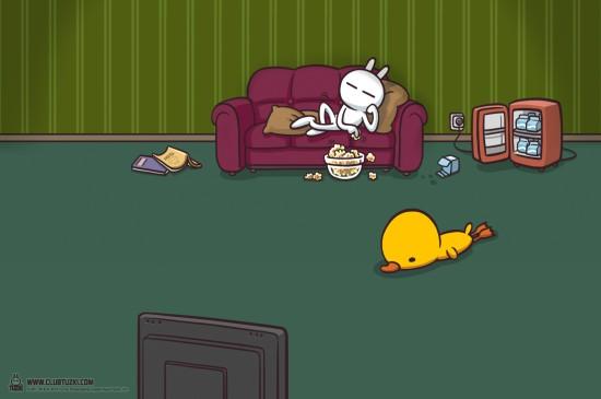 <圣誕節阿貍二次元卡通人物桌面壁紙