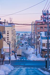 日本冬季雪景唯美风光图