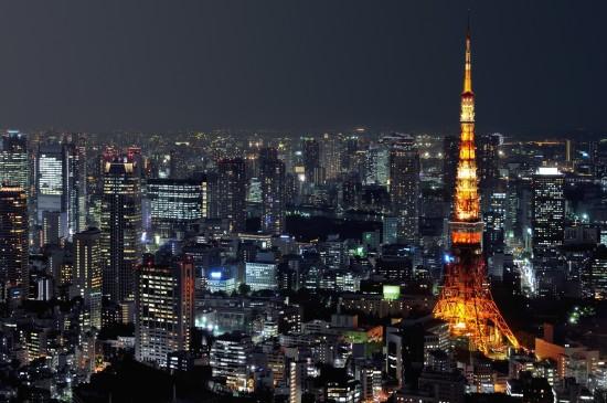 唯美日本东京塔风光桌面壁纸
