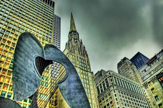 美国芝加哥城市风景桌面壁纸