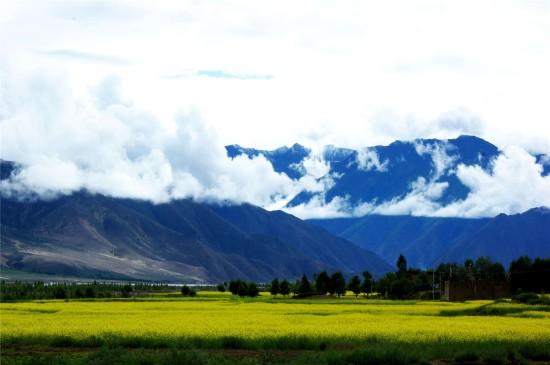 雅鲁藏布江风景高清桌面壁纸