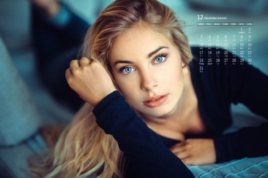 2018年12月性感欧美美女日历壁纸