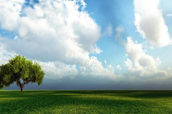 蓝天白云唯美护眼风景图片桌面壁纸