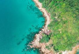 <航拍海岛自然风景图片桌面壁纸