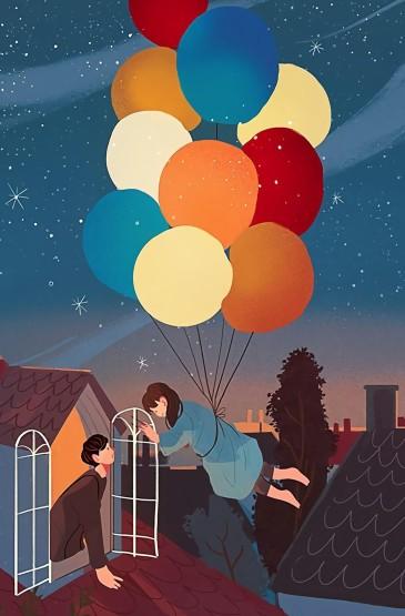 浪漫生活手绘素描高清手机壁纸