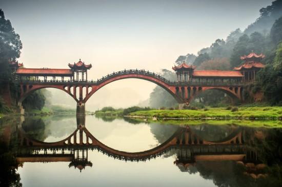 <小桥流水人家风景图片桌面壁纸