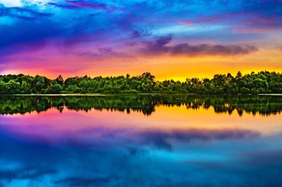<唯美湖泊自然风光图片电脑壁纸