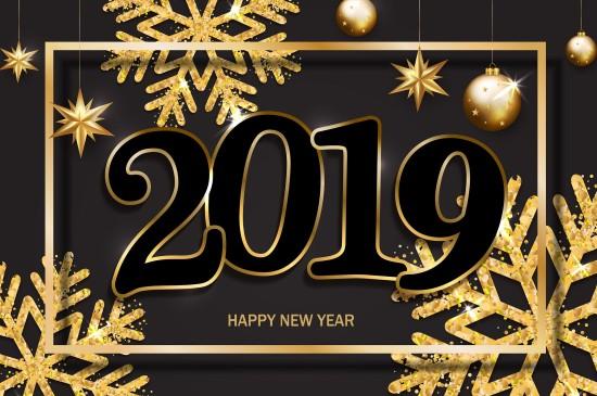 2019猪年新年喜庆图片桌面壁纸