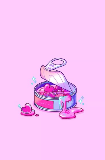 <炫彩可爱美食插画高清手机壁纸